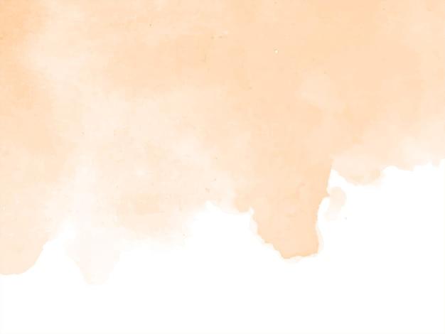 柔らかい茶色の水彩デザインの背景 無料ベクター