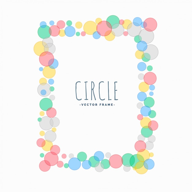 Soft circles cute frame background Free Vector
