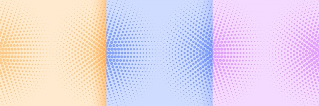 Soft colors abstract halftone pattern background design Free Vector