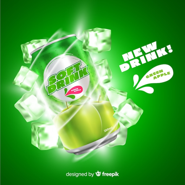 Soft drink ad Free Vector