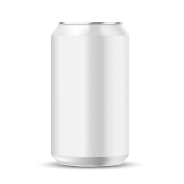 Soft drink can mockup Premium Vector