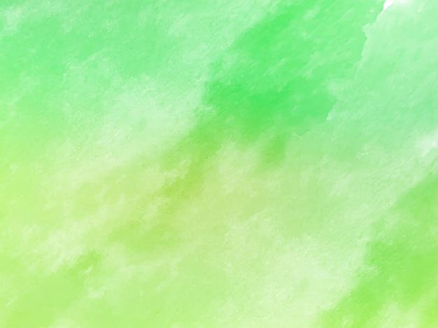 柔らかい緑の装飾的な水彩テクスチャ背景 無料ベクター