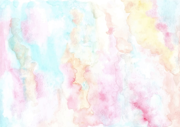 Soft pastel abstract watercolor texture background Premium Vector