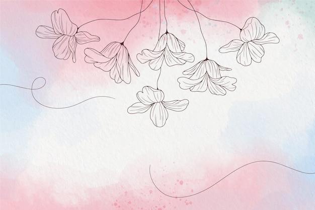 Carta da parati pastello morbida con fiori Vettore gratuito
