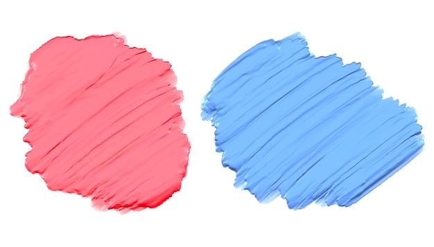 부드러운 분홍색과 파란색 두꺼운 아크릴 수채화 물감 페인트 텍스처 무료 벡터