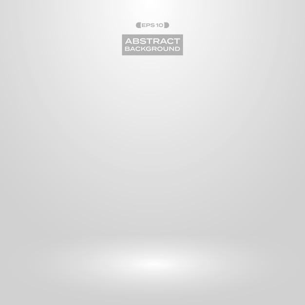Soft white gray gradient studio presentation background. Premium Vector