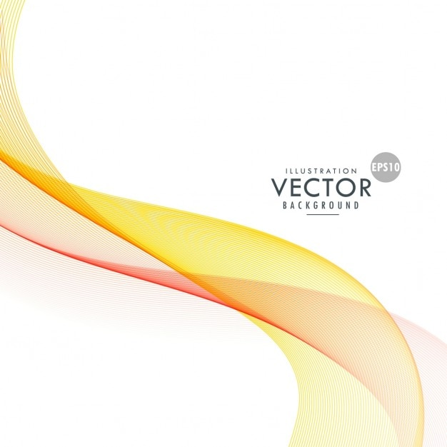Soft yellow wave on abstract background Vector | Free Download