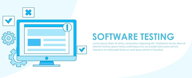 Software testing banner Free Vector