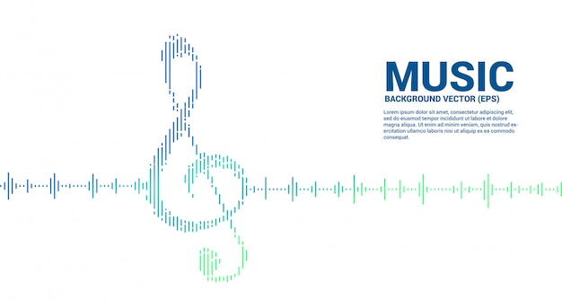 Sol key note icon sound wave music equalizer background. background for event concert and music festival Premium Vector