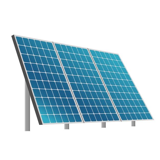 Solar battery eco system illustration Premium Vector