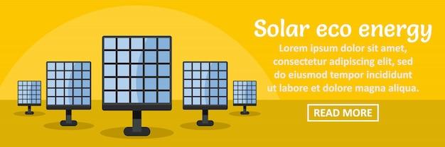 Solar eco energy banner template horizontal concept Premium Vector