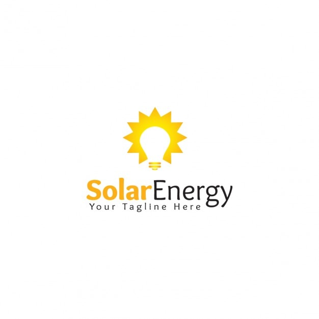 solar energy logo template vector free download