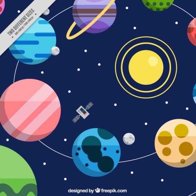 solar system vector - photo #4
