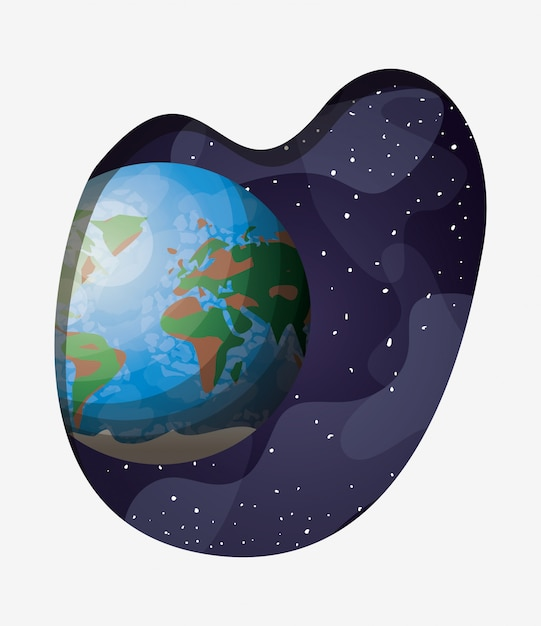Solar system earth planet Free Vector