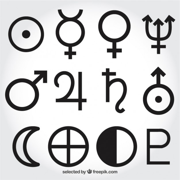 Solar System Symbols Vector Free Download