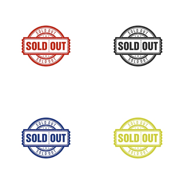 Sold out vector stamp Premium Vector