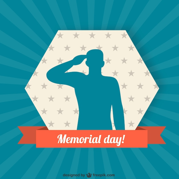 Soldier silhouette background for memorial\ day