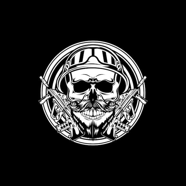 Солдатский череп Premium векторы