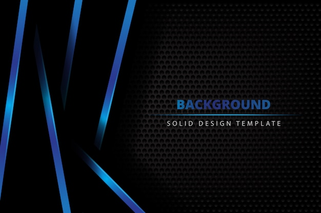 Solid metal blue dark background Premium Vector
