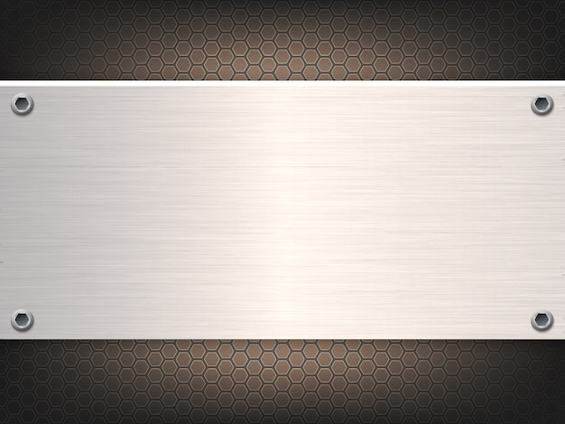 Solid metal sheet abstract background. Premium Vector