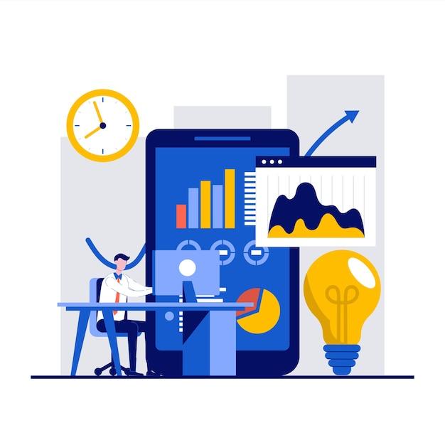 ソリューション、ビジネスマンの性格を持つ革新的な意思決定の概念。 Premiumベクター