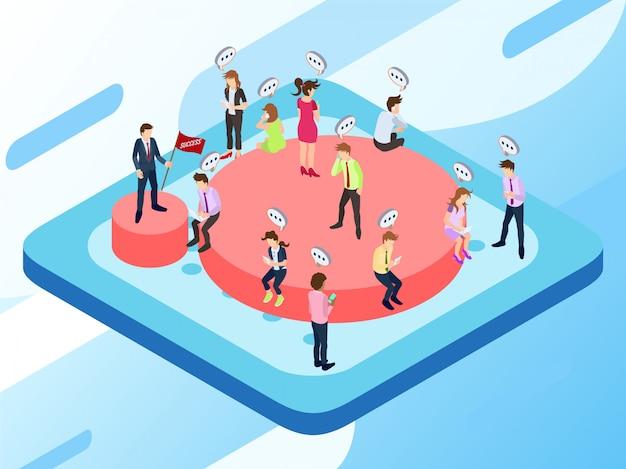 Некоторые службы клиентов, работающие над своим заданием, взаимодействуя со своими клиентами Premium векторы