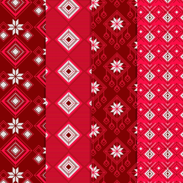 Songket pattern collection Free Vector