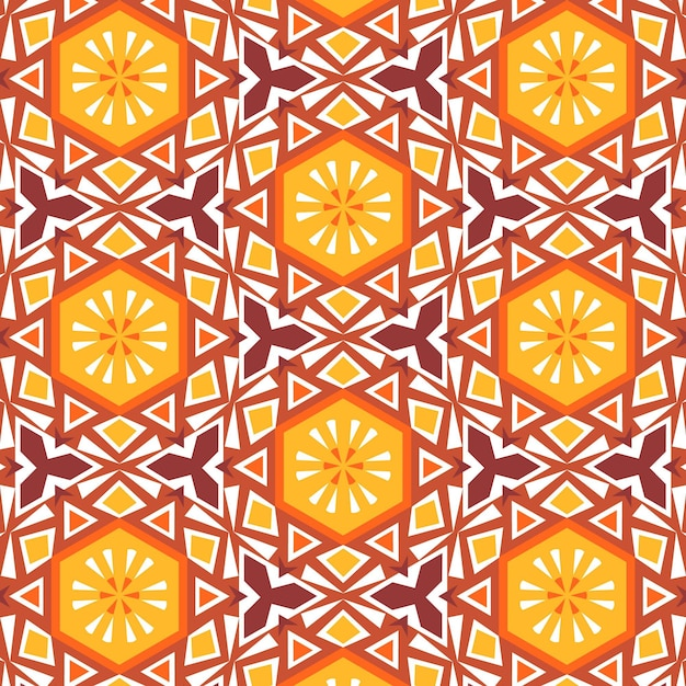 Songket pattern concept Free Vector