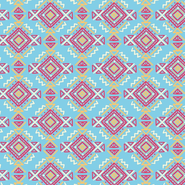Songket pattern with drawn shapes Free Vector