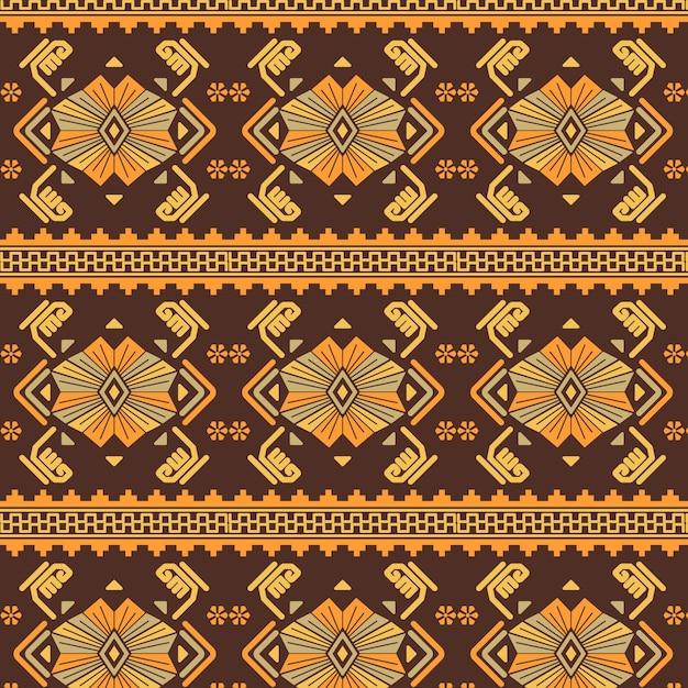 ソンケットの伝統的なパターン 無料ベクター