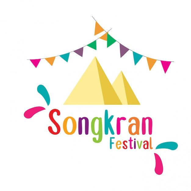 Songkran festival in thailand. Premium Vector
