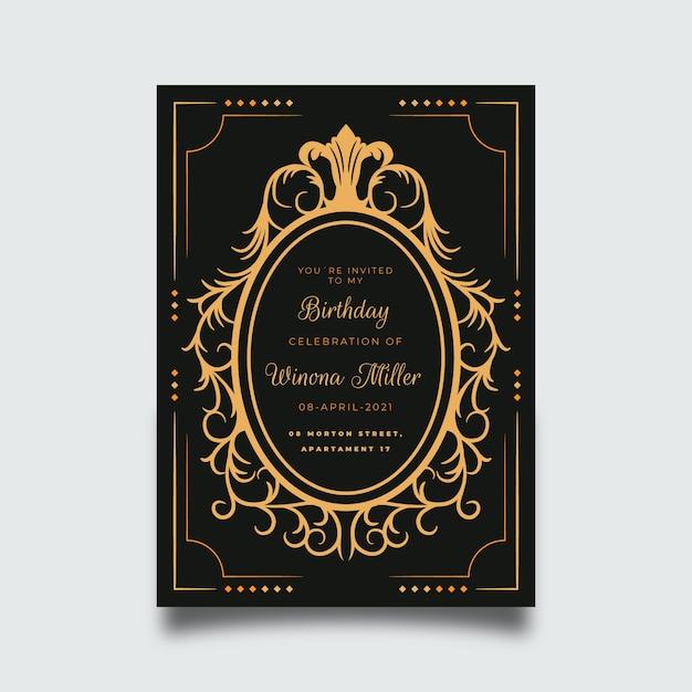 Изощренный шаблон поздравительной открытки Бесплатные векторы
