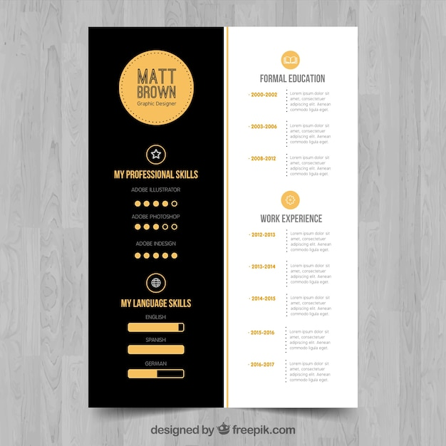 Sophisticated cv template vector free download sophisticated cv template free vector yelopaper Choice Image