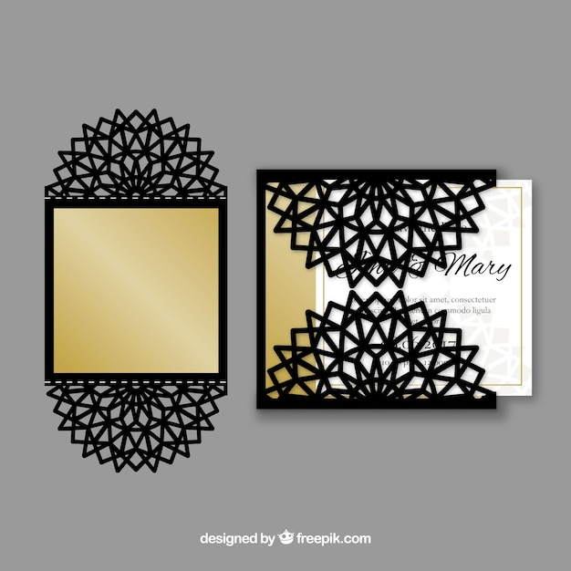 Sophisticated laser cutting invitation