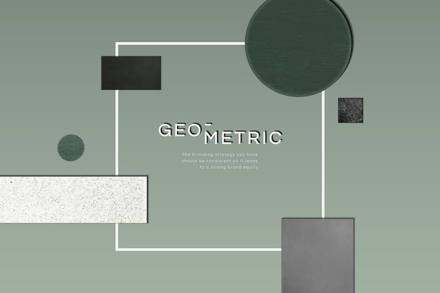 Sophisticated modern geometric frame Free Vector