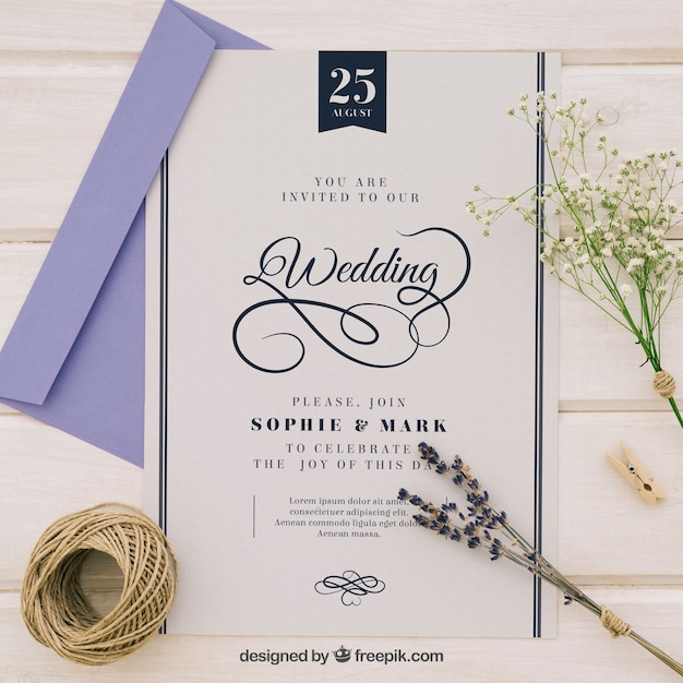 Sophisticated wedding invitation vector free download sophisticated wedding invitation free vector stopboris Gallery