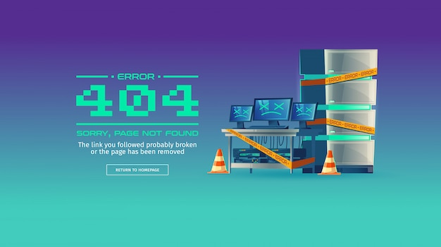 Sorry, page not found, 404 error concept illustration Free Vector