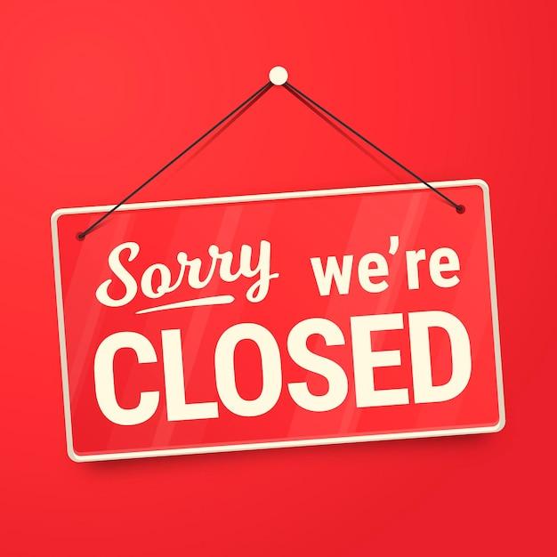 Siamo spiacenti segno chiuso Vettore gratuito
