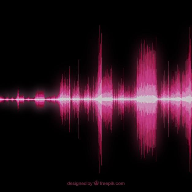 Sound wave background Vector | Free Download