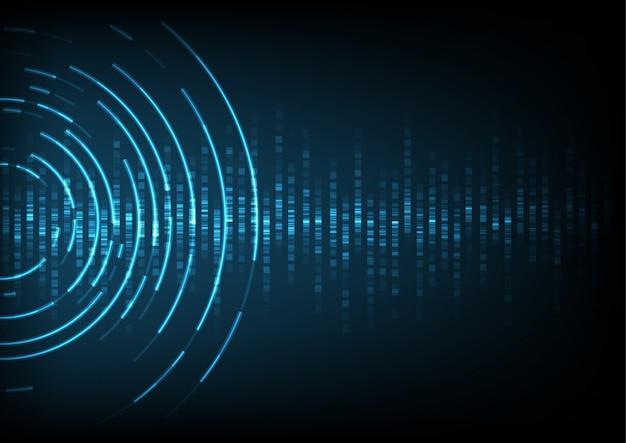 Sound wave background Premium Vector