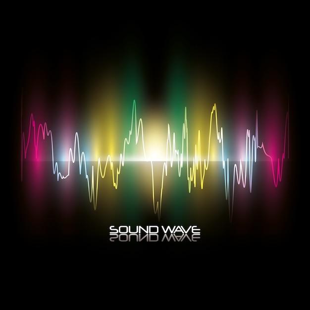 Sound wave design Premium Vector
