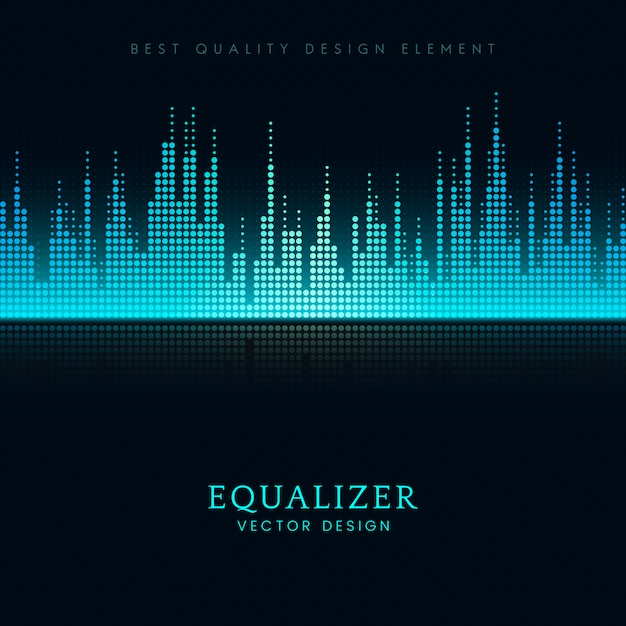 Sound wave equalizer vector design Vector | Free Download