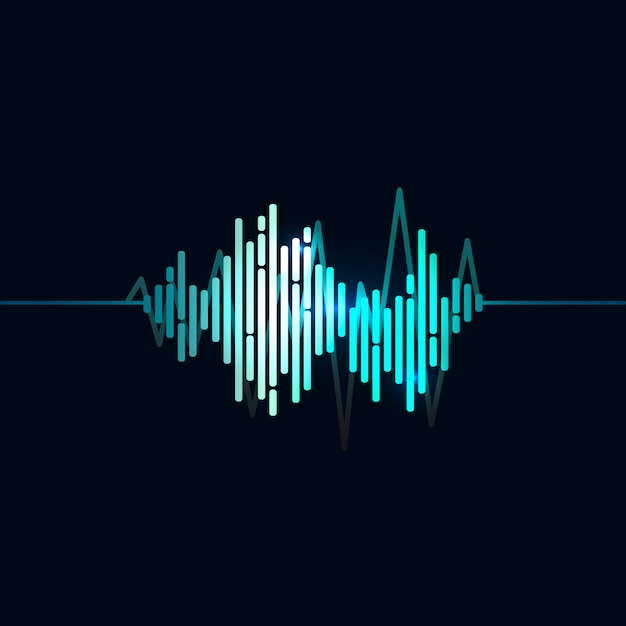 Sound wave equalizer vector design Free Vector