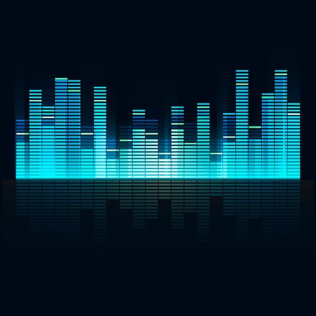 Sound wave equalizer vector design Free Vector