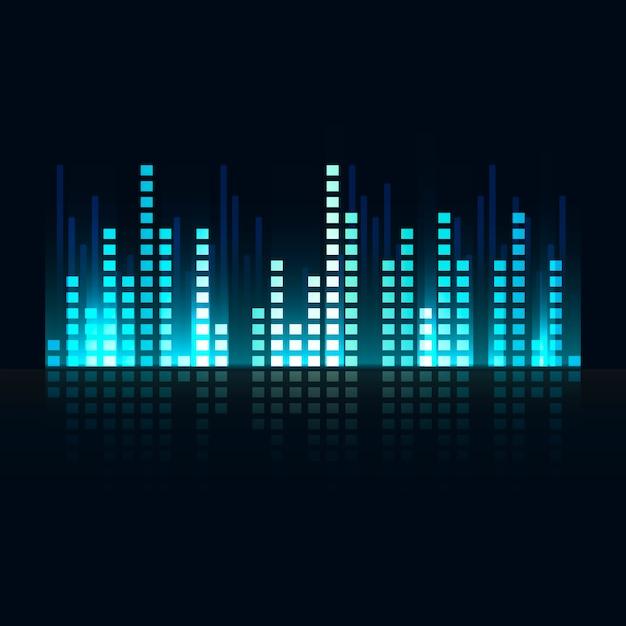 Sound wave equalizer Free Vector