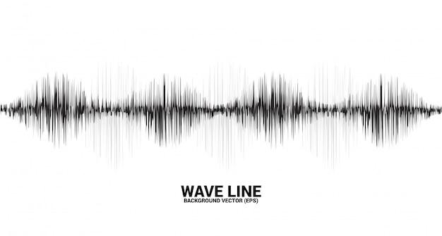 Sound wave line curve on white background Premium Vector