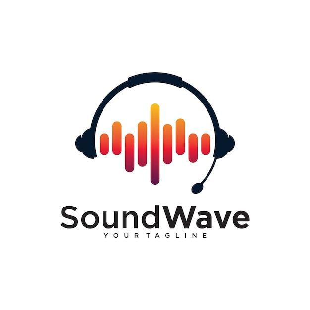 Sound wave logo design template Vector | Premium Download