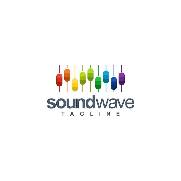 Sound wave logo Premium Vector