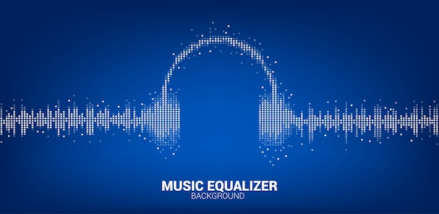 Sound wave music equalizer background Premium Vector