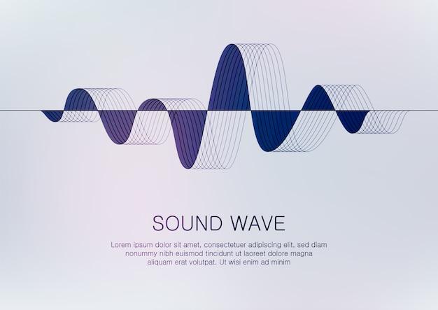 Sound wave Premium Vector